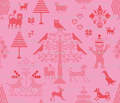Pink Cross Stitch