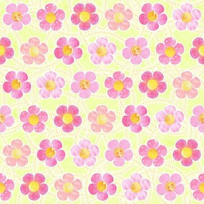 Pink Patterened Flowers