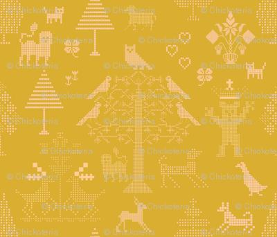 Butterscotch Cross Stitch Pattern