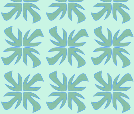 Every_Which_Way_Greens fabric by trishadstudio on Spoonflower - custom fabric