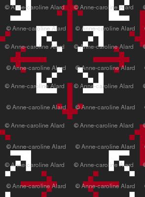 Pixelated arrows