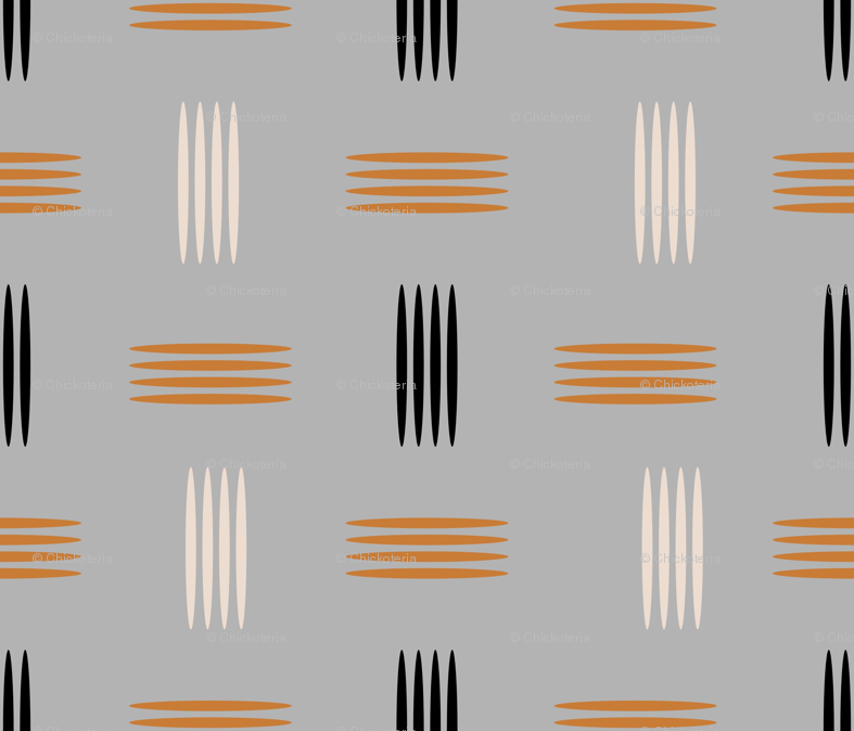 Mid Century Modern Wallpaper Chickoteria Spoonflower
