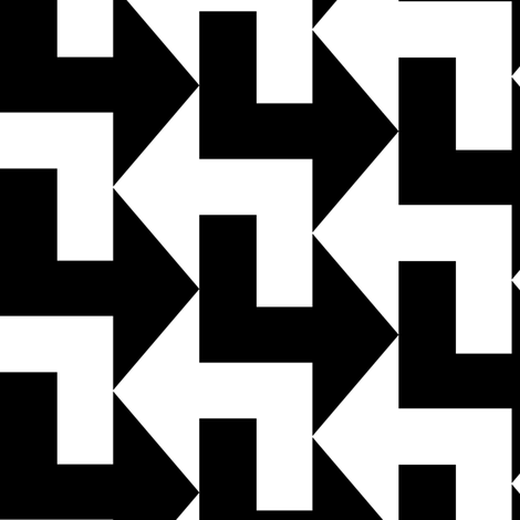 A Little to the Left - Black and White fabric by shelleymade on Spoonflower - custom fabric