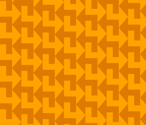 A Little to the Left - Autumn fabric by shelleymade on Spoonflower - custom fabric