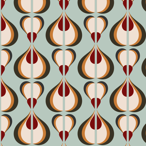 Retro Mod 60s OPART fabric by chickoteria on Spoonflower - custom fabric