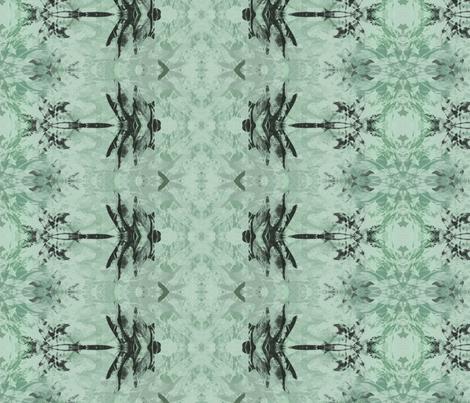 Dragonfly Batik Rows in aqua fabric by wren_leyland on Spoonflower - custom fabric