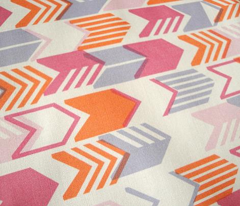 Tribal Arrows (Pink Mini) || geometric chevron arrow native arrowhead stripes