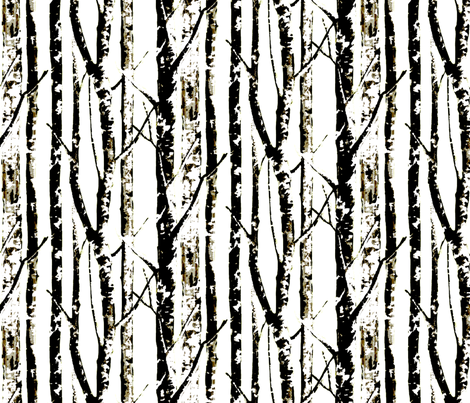 Winter Birch fabric by nascustomlife on Spoonflower - custom fabric