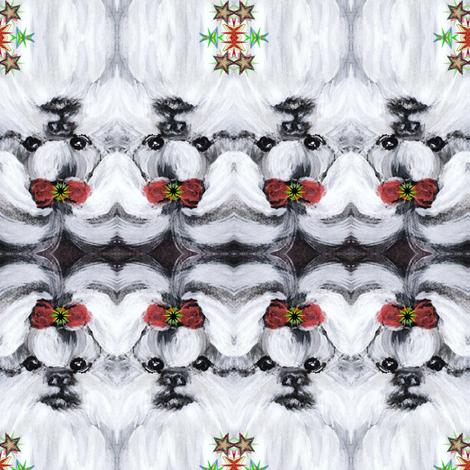 SHIH TZU HOLIDAY BOW fabric by kaylah-marie on Spoonflower - custom fabric