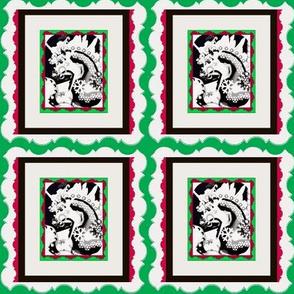 FANTACY CAROSELChristmas RED/GREEN/BLK