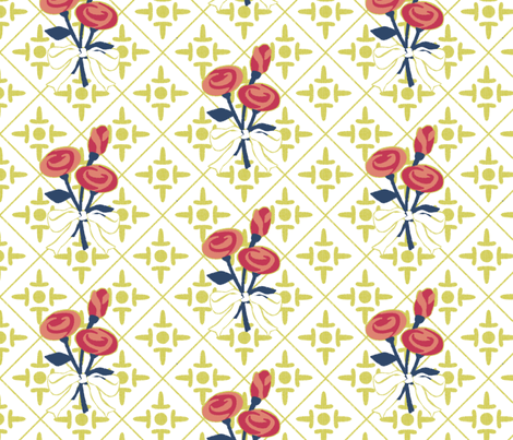 after_matisse_colonial_cross_and_roses2 fabric by glimmericks on Spoonflower - custom fabric