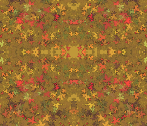 Autumn Gold fabric by kiniart on Spoonflower - custom fabric