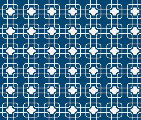 hollywood trellis navy fabric by ninaribena on Spoonflower - custom fabric