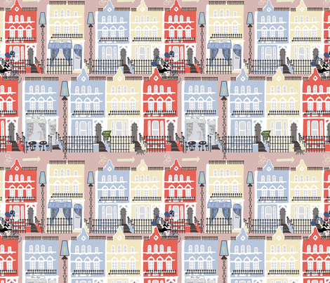 Notting Hill in mauve fabric by kociara on Spoonflower - custom fabric