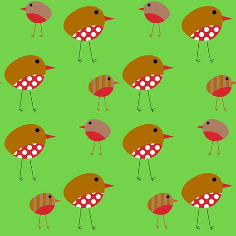 Birds - Christmas Robins fabric by giddystuff on Spoonflower - custom fabric