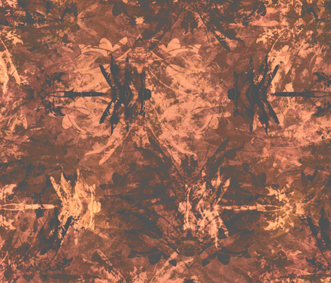 Dragonfly -  Chocolate Liqueur fabric by wren_leyland on Spoonflower - custom fabric