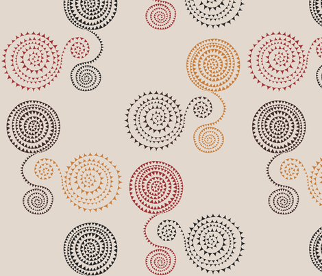 Arrowy Spirals fabric by creative_cat on Spoonflower - custom fabric