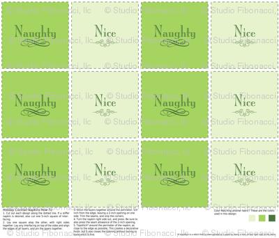 Naughty & Nice Cocktail Napkins (Green)