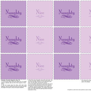 Naughty & Nice Cocktail Napkins (Purple)