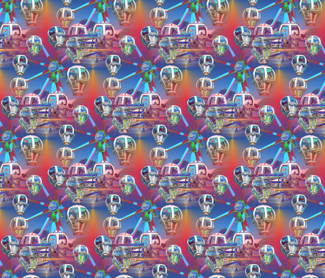 Kids Ferris Wheel fabric by farrellart on Spoonflower - custom fabric