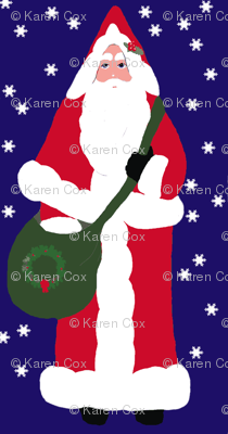 Father Christmas Red with snowflakes