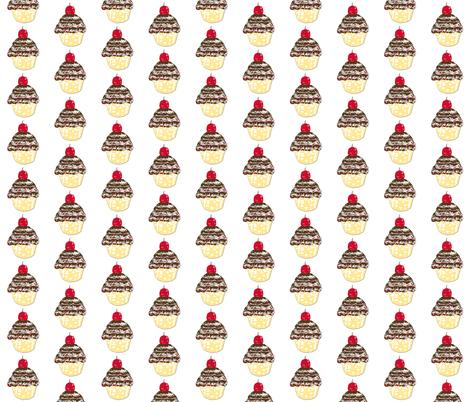 Cupcake Love-ch-ch-ch fabric by karenharveycox on Spoonflower - custom fabric