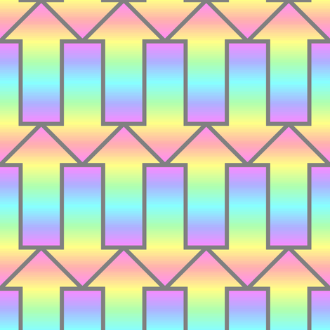 arrow 2mg rainbow fabric by sef on Spoonflower - custom fabric