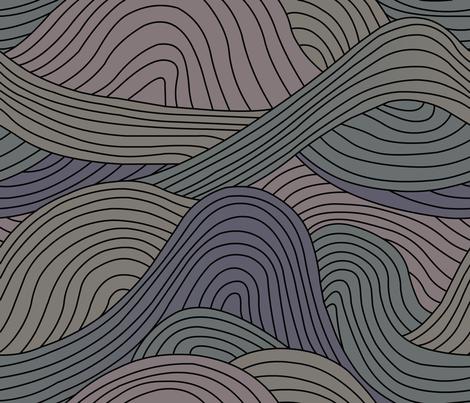 Waves fabric by shiro on Spoonflower - custom fabric