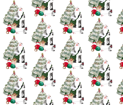 Father_Christmas_fabric_two fabric by karenharveycox on Spoonflower - custom fabric