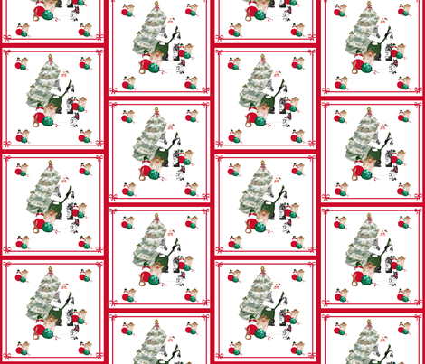 FAther_Christmas_pillow_panel_II fabric by karenharveycox on Spoonflower - custom fabric
