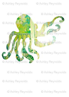 Octopus in green