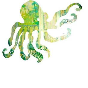 Octopus in green