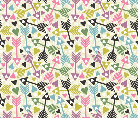 Love_Arrows fabric by jlwillustration on Spoonflower - custom fabric