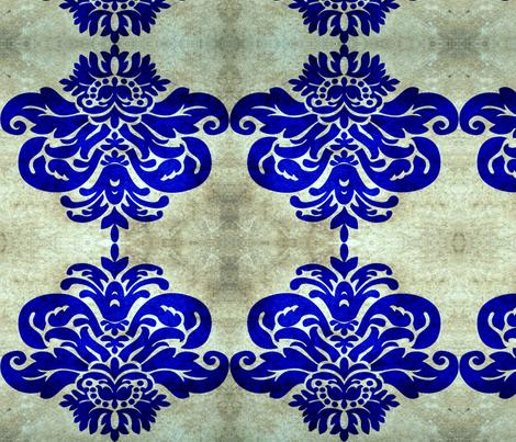 damask navy fabric by nascustomlife on Spoonflower - custom fabric