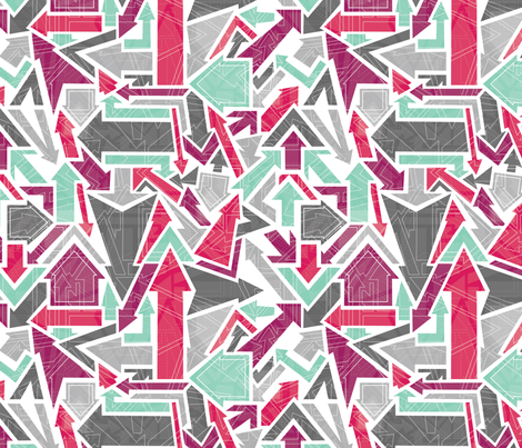 Patterned Arrows fabric by rosiesimons on Spoonflower - custom fabric