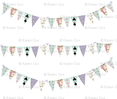 French Script Bunting Large 10 x 9