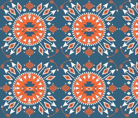 Navajo Arrows - fabric by fable_design on Spoonflower - custom fabric