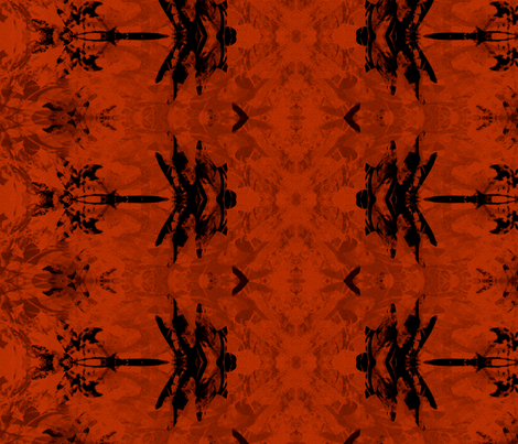 Dragonfly in Rich Warm Red fabric by wren_leyland on Spoonflower - custom fabric