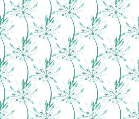 Dandelion Arrows fabric by ilikemeat on Spoonflower - custom fabric