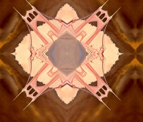 St. John's Bridge fall fabric by dibbdibb on Spoonflower - custom fabric