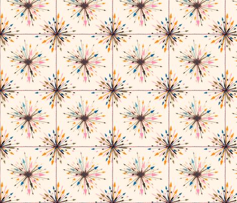Arrows flowers fabric by lucybaribeau on Spoonflower - custom fabric