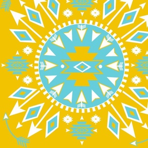 Navajo Arrows-sunshine/turquoise