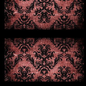 vintage damask brown tufted
