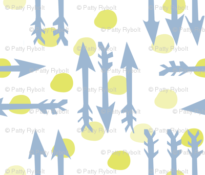 Dotty Arrows 452(key lime, deep sky & white)