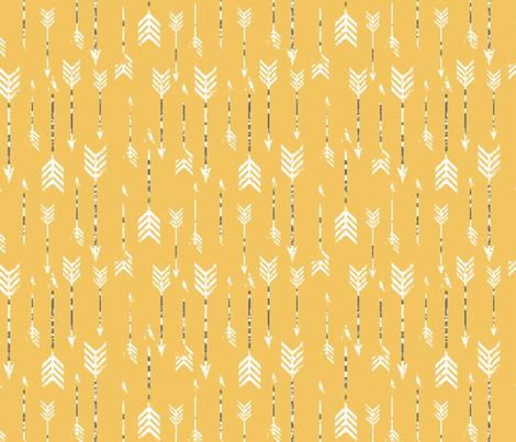 Yellow Arrows fabric by luckyapple on Spoonflower - custom fabric