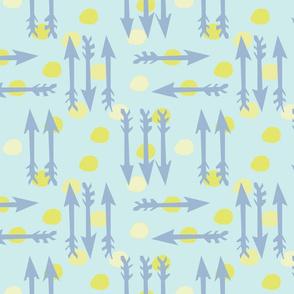 Dotty Arrows 452(lt. aqua, key lime & deep sky)