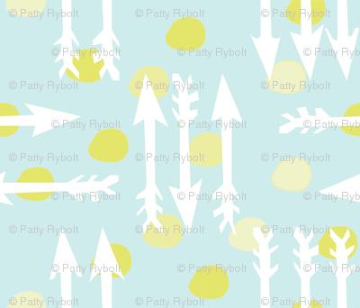 Dotty Arrows 452(lt. aqua, key lime & white)
