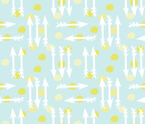 Dotty Arrows 452(lt. aqua, key lime & white) fabric by pattyryboltdesigns on Spoonflower - custom fabric