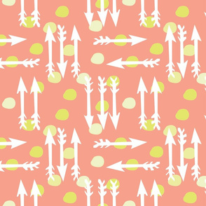 Dotty Arrows 452 (salmon, key lime & white)