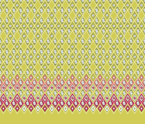 Anemone_Diamonds_24 C 2 mc fabric by khowardquilts on Spoonflower - custom fabric